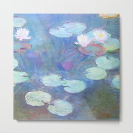 Claude Monet Water Lilies Pink 1899 Metal Print