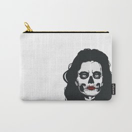 skeleton woman red lips Carry-All Pouch
