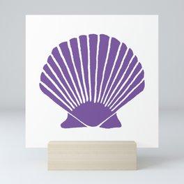 Purple Seashell Mini Art Print