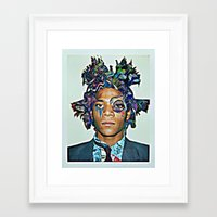 basquiat Framed Art Prints featuring Basquiat by Katy Hirschfeld