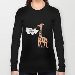 Love Giraffe Long Sleeve T-shirt