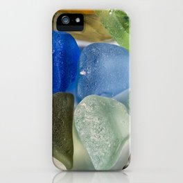 Colorful New England Beach Glass iPhone Case