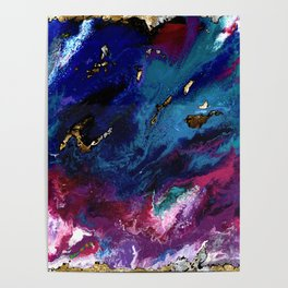 Brendon Urie abstract synesthetic painting Poster
