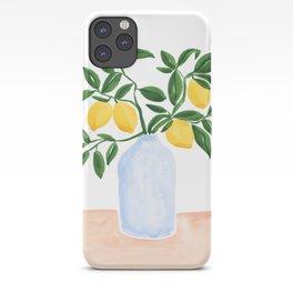 Lemon Tree Branch in a Vase iPhone Case