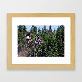 Closing In - Motocross Racers Framed Art Print