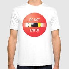 Do Not Enter MEDIUM White Mens Fitted Tee