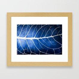 Glowing Grunge Veins Framed Art Print