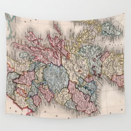 Vintage Map of Scotland (1832) Wall Tapestry