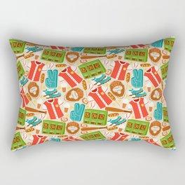 Baseball Pattern | Catcher Home-Run Team Pitcher Rectangular Pillow