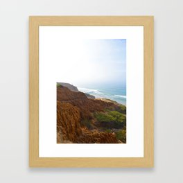 Sand Stone and Ocean Framed Art Print