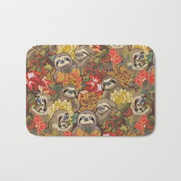 Because Sloths Autumn Bath Mat