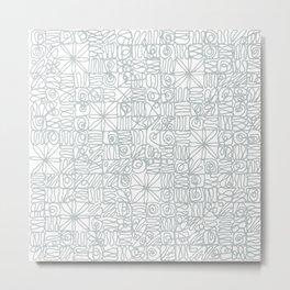 Be square. Be Serene. Be present. Metal Print