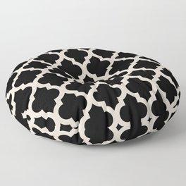 Moroccan Quatrefoil Pattern 724 Floor Pillow