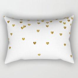 Gold Hearts Rectangular Pillow