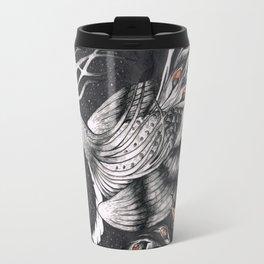 Nocturnal Black Swan-Peacock Travel Mug