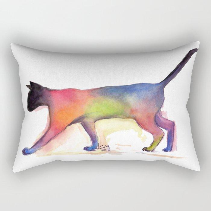 Cat Kitten Print ' PUSS PUSS ' by Shirley MacArthur Rectangular Pillow