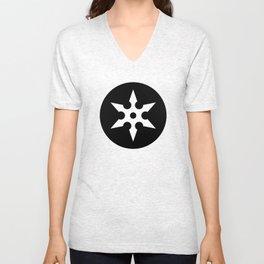 Ninja Shuriken Ideology Unisex V-Neck