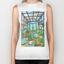 cactus are awesome Biker Tank