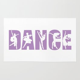 Dance in Light Purple with Dancer Cutouts Rug