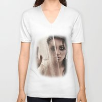 shower V-neck T-shirts featuring Shower by Ashley Boxler