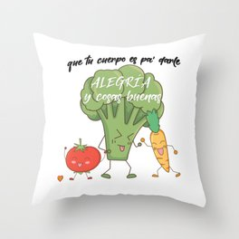 Vegetarian macarena Throw Pillow