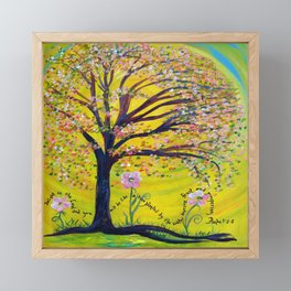 A Tree Planted by the Water Framed Mini Art Print