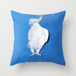 Cocky blue Throw Pillow