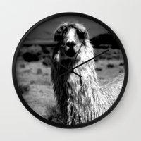 peru Wall Clocks featuring Peru Journey NO2 by Julia Aufschnaiter