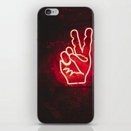 Neon Peace iPhone Skin