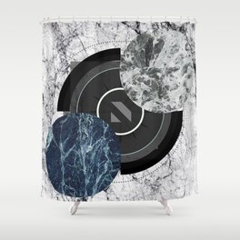 Compass To The Moon Shower Curtain