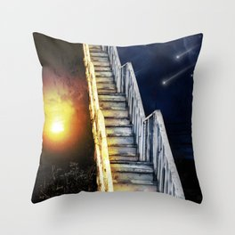 Stairway to.... u guess!  Throw Pillow