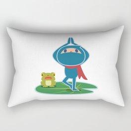 Ninja! Secret picture scroll of Anko Ogura. Rectangular Pillow
