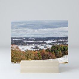 Muggleswick snow landscape Mini Art Print