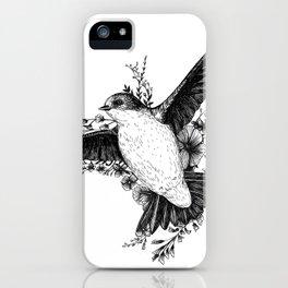 Swallow - Go Vegan iPhone Case