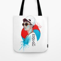 korea Tote Bags featuring South Korea by Tunyon