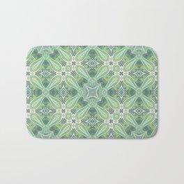 turquoise kaleidoscope pattern Bath Mat
