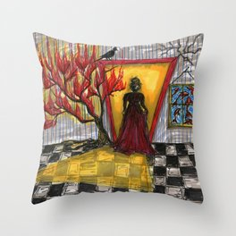 Scratching the Surface Throw Pillow