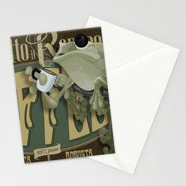 Frog & Coffee by Paulo Coruja Stationery Cards