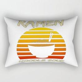 Ramen Noodle Soup Kawaii Japanese Noodles Vintage Retro Rectangular Pillow