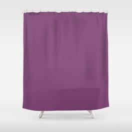 Grape Kiss Purple   Solid COlour Shower Curtain