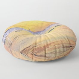 Impressions Of Provincetown Cape Cod USA Floor Pillow