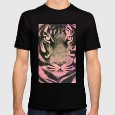 Be a Tiger (Pink) Mens Fitted Tee MEDIUM Black
