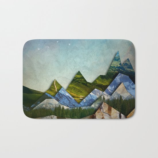 The Mountain Range Bath Mat