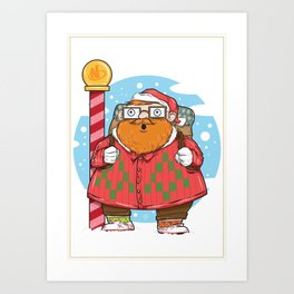 Kris the Hipster Art Print