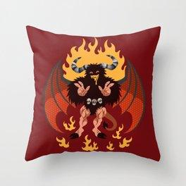 Chipper Demon Throw Pillow