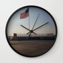 Seaside Boardwalk Wall Clock
