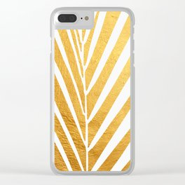 Golden leaf VIII Clear iPhone Case
