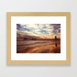 Autumn Beach Relections Framed Art Print
