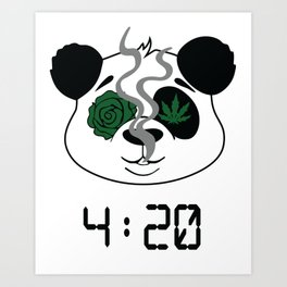 4:20 Panda (4/20 Edition) Art Print