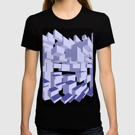Three-dimensional cubes on black background. T-shirt